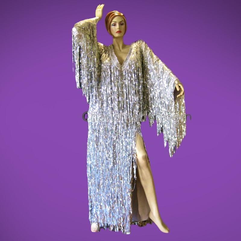 Sequin Fringe Gown